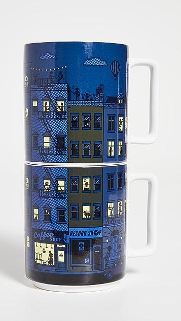 Shopbop @Home Yes Studio Heat Sensitive Stacking Mugs Set of 2