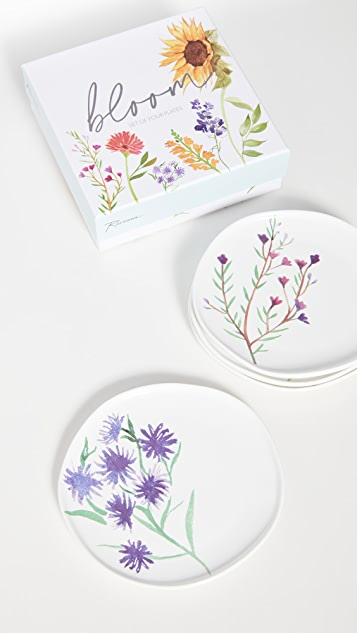 Shopbop @Home 一套 4 件花朵小盘
