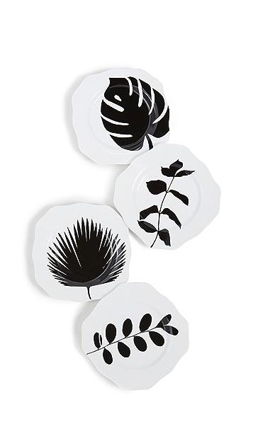 Shopbop @Home Set of 4 Leaves Plates
