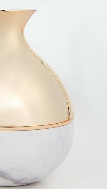Shopbop @Home Marble + Metal Vase