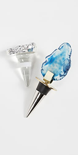 Shopbop @Home - Druzy + Agate Bottle Stoppers
