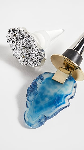 Shopbop @Home Druzy + Agate Bottle Stoppers
