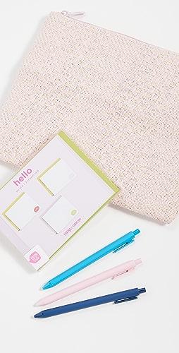 Shopbop @Home - Straw Stationery Kit