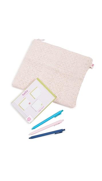 Shopbop @Home Straw Stationery Kit