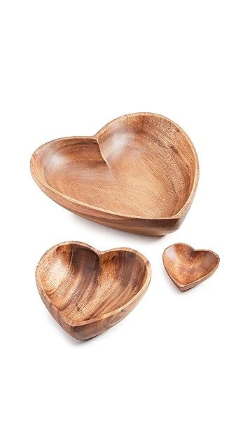 Shopbop @Home The Little Market Heart Bowl Set of 3