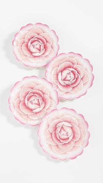 Shopbop @Home Rose Tidbit Plates (Set of 4)