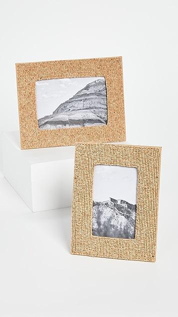Shopbop @Home Beaded Set of  2 Photo Frames