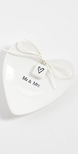 Shopbop @Home - Mr & Mrs Heart Shaped Ring Dish
