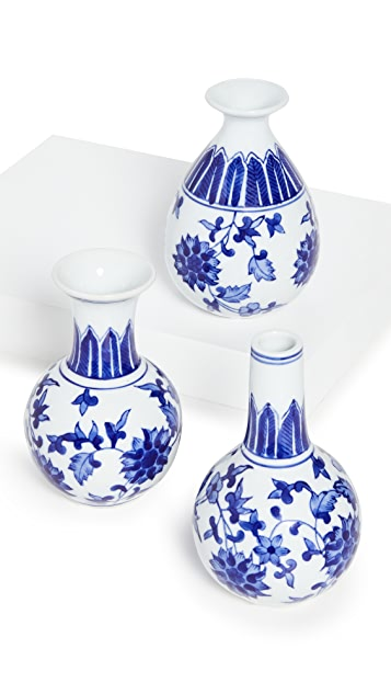 Shopbop @Home Canton Collection Set of 3 Vases