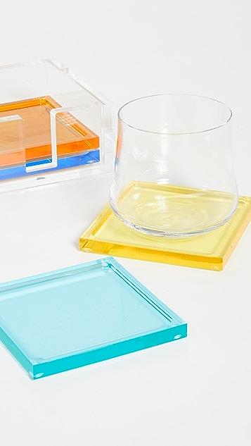 Shopbop @Home Tizo 合成树脂杯垫套装