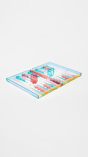 Shopbop @Home Tizo Lucite Backgammon Set
