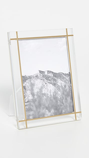 Shopbop @Home Lucite Frame with Brass Inlay