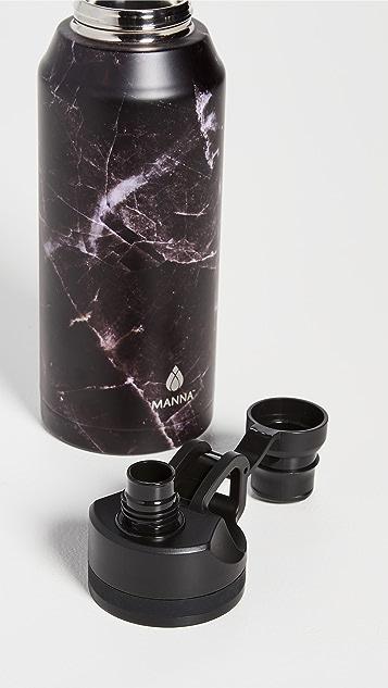 Shopbop @Home 32oz Jumbo Black Marble Water Bottle