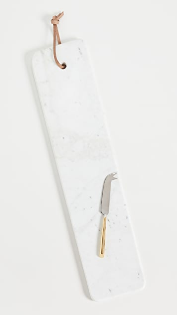 Shopbop @Home Elongated Solid Marble Serving Tray