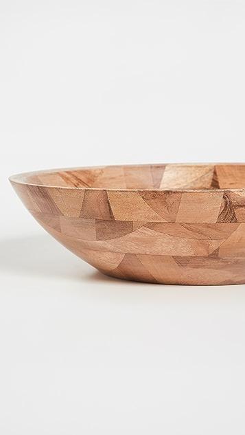 Shopbop @Home Tiles Wood Salad Centerpiece Bowl