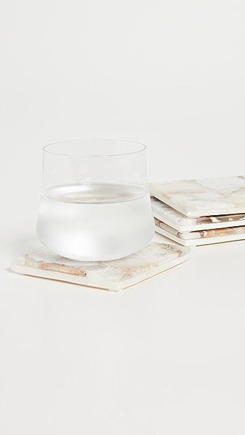 Shopbop @Home Set of 4 Agate Coasters