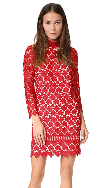 6ba921563d35c Shoshanna Mock Neck Lace Dress   SHOPBOP