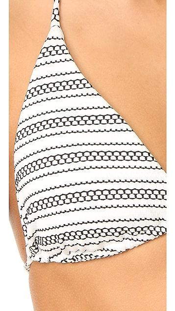 Shoshanna Clean Triangle Bikini Top