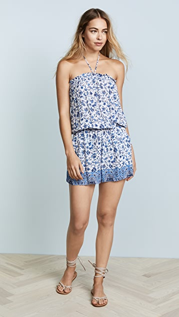 Shoshanna Chambray Paisley Floral Romper