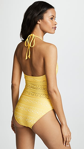 Shoshanna Palm Springs Eyelet One Piece