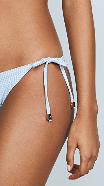 Shoshanna Mini Gingham Clean Triangle Bottoms