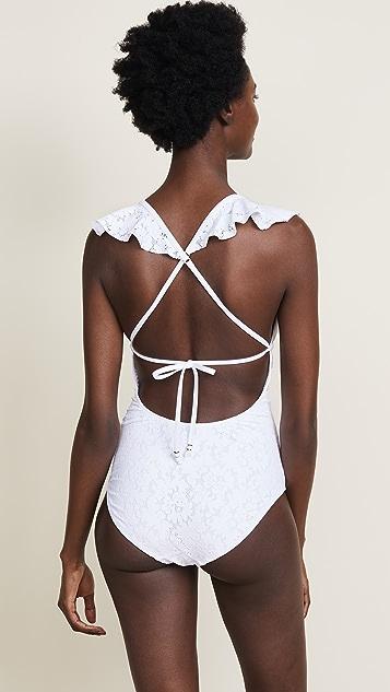 Shoshanna Romantic Ruffle Swimsuit