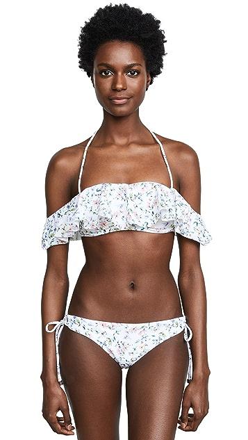 Shoshanna Botanical Garden Bandeau Bikini Top