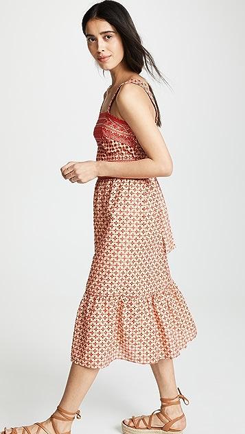 Shoshanna Midi Eyelet Cover Up Dress
