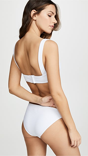 Shoshanna Nevada Texture Bikini Top