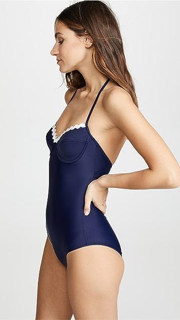 Shoshanna Navy One Piece Swimsuit