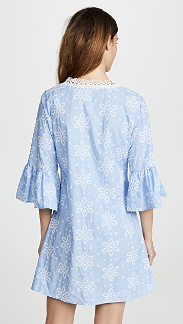 Shoshanna Tossed Daisy Embroidery Dress