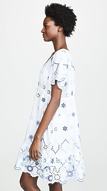 Shoshanna Cut Out Eyelet Floral Dress