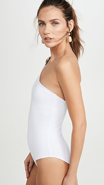 Shoshanna Ring One Shoulder One Piece