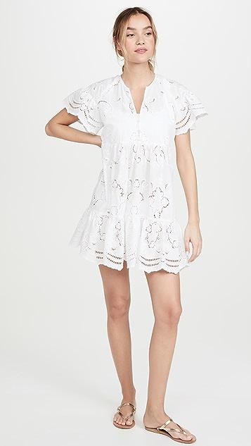 Shoshanna Мини-платье с оборчатым краем