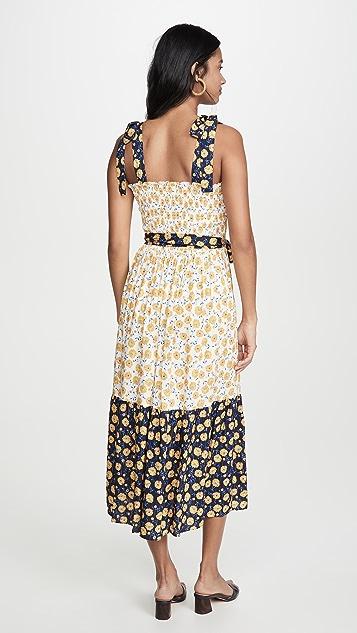 Shoshanna Макси-платье с завязывающимися бретельками