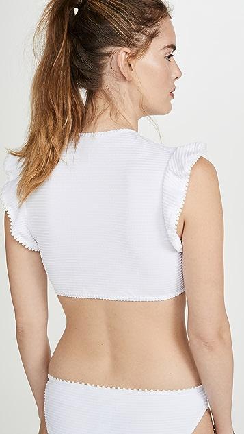 Shoshanna Deep V Crop Bikini Top