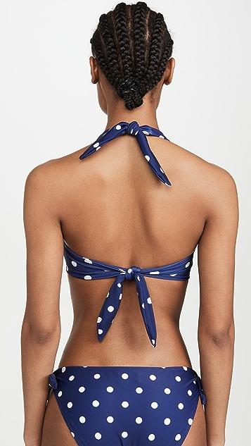 Shoshanna Tie Front Halter Bikini Top