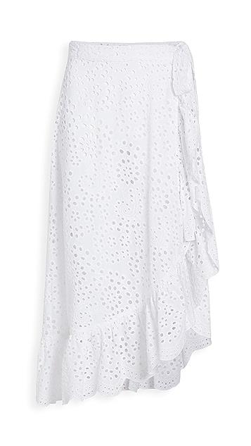 Shoshanna Ruffled Wrap Skirt