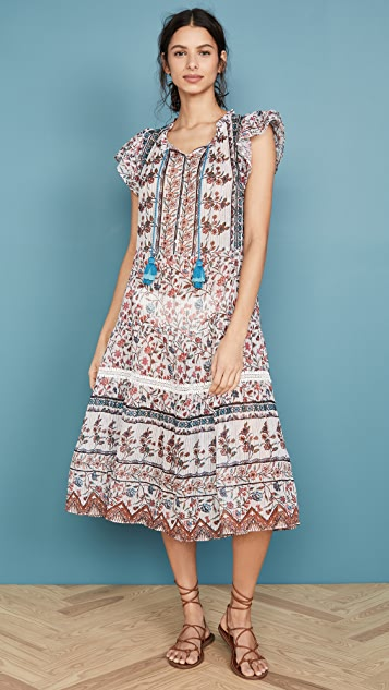Shoshanna Расклешенное миди-платье