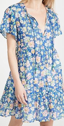 Shoshanna - Ruffled Hem Mini Dress