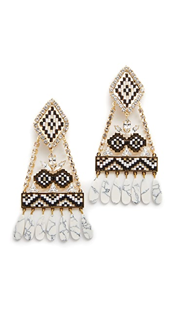 Shourouk Ramses Clip On Earrings