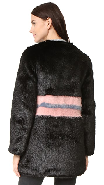 Shrimps Frederica Faux Fur Coat