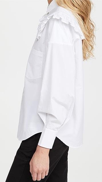 SHUSHU/TONG Round Collar Oversize Shirt
