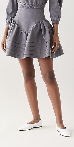 SHUSHU/TONG - High Waist Ruffle Skirt