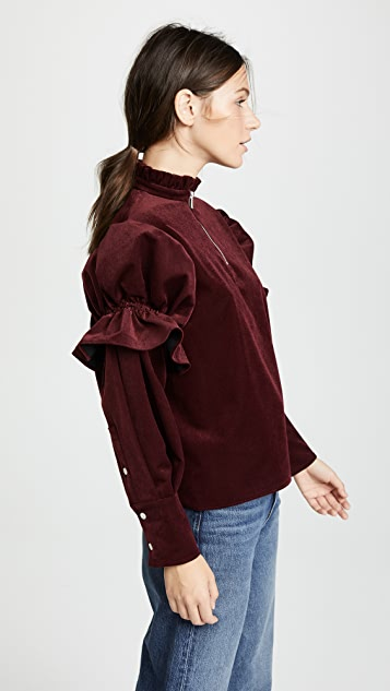 SHUSHU/TONG Bubble Sleeve Top