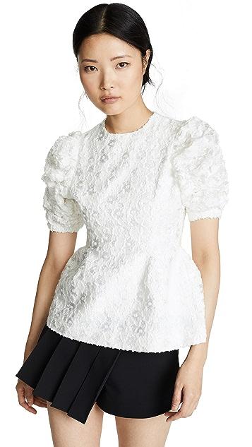 SHUSHU/TONG Gathered Sleeve Top