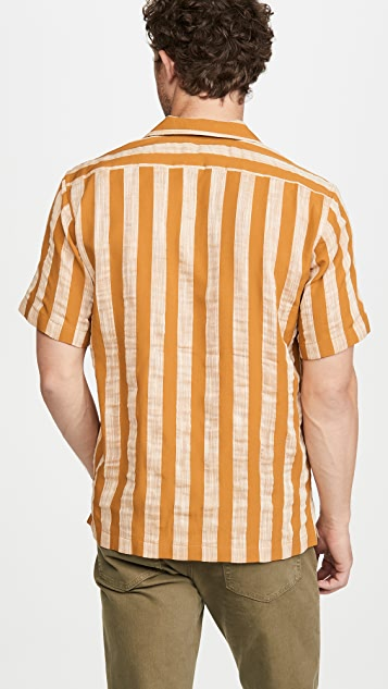 Simon Miller Short Sleeve Striped Shirt