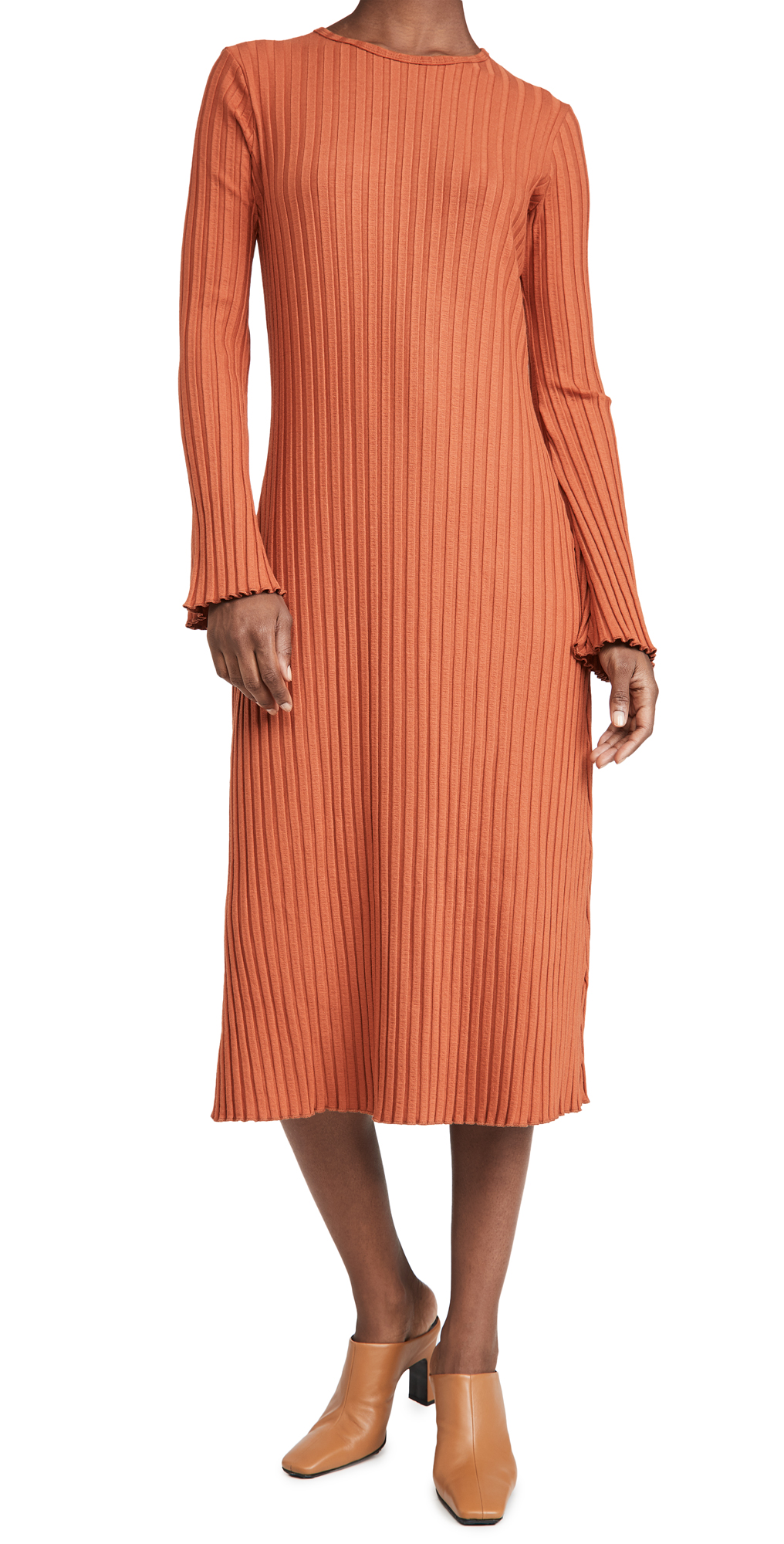 Simon Miller Rib Wells Long Sleeve Dress