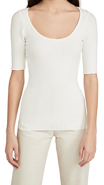 Simon Miller Vista Scoop Neck Tee
