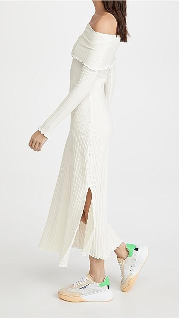 Simon Miller Espen Fold Over Long Sleeve Dress